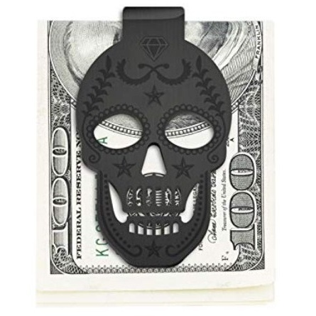 86354c208752 Stainless Steel Skull Money Clip